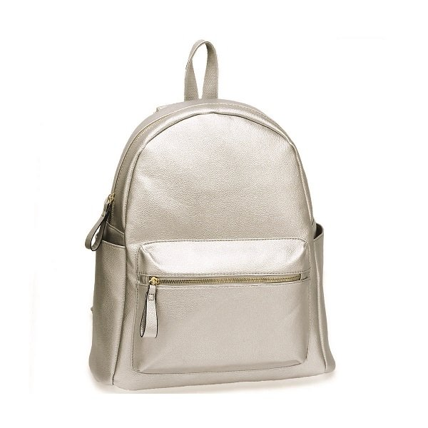 Anna Grace Silver/Ασημί Backpack/Tσάντα Πλάτης (AG00186C)