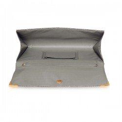 LS Bags Grey Glitter Clutch bag (LSE00235)